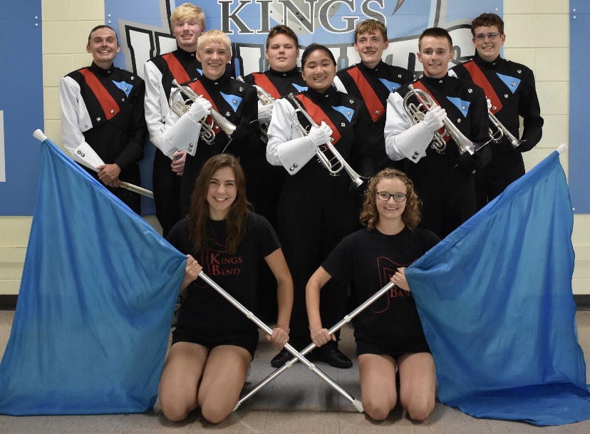Marching Band Seniors preparing for their final week of the season.