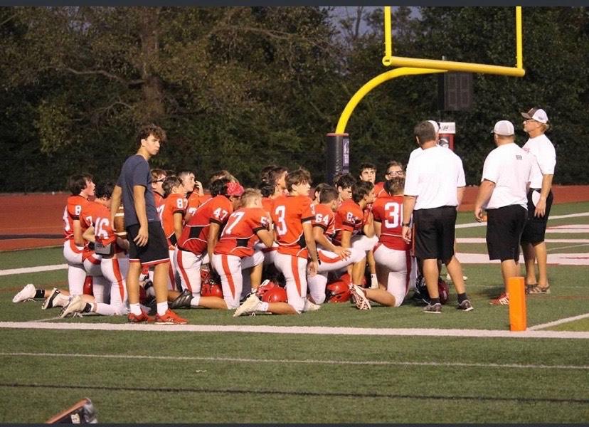 The freshman football team