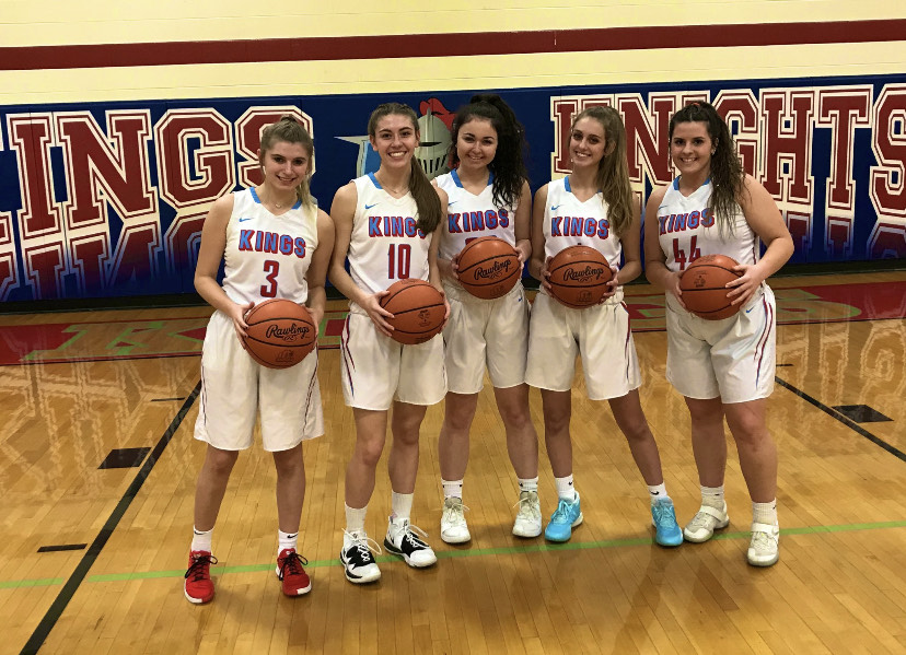 The senior girls ready for senior night on Wednesday February 5th via @KingsKnightsWBB on Twitter
