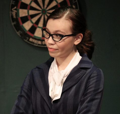"Erin Abney as Doctor Emmett this past fall in ""The Curious Savage"". Photo by Kaleigh Cooke"