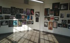 Student gallery display at the Art Academy of Cincinnati, photo by Mattie Foster