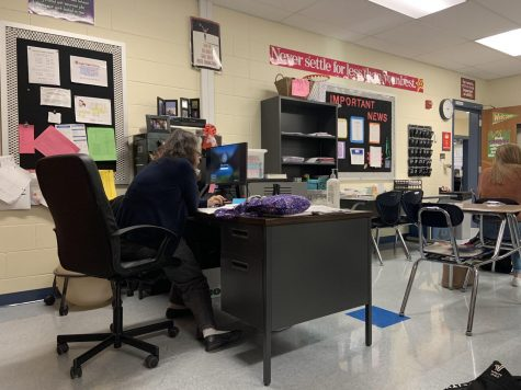Kings High School teacher Mrs. West being subbed for by Ms. Buck.