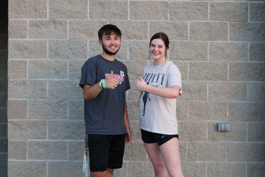 Ryan Green and Alexandra Spoelker pushing through their soccer and dance practice with the motivation of God